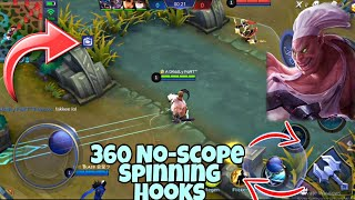 SPINNING HOOKS 😂 360 DEGREE NO SCOPE FRANCO | WOLF XOTIC | MOBILE LEGENDS