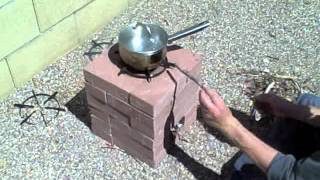 How To Build A Rocket Stove Using 16 20 Or 24 Bricks - Powerful Cooking Edition