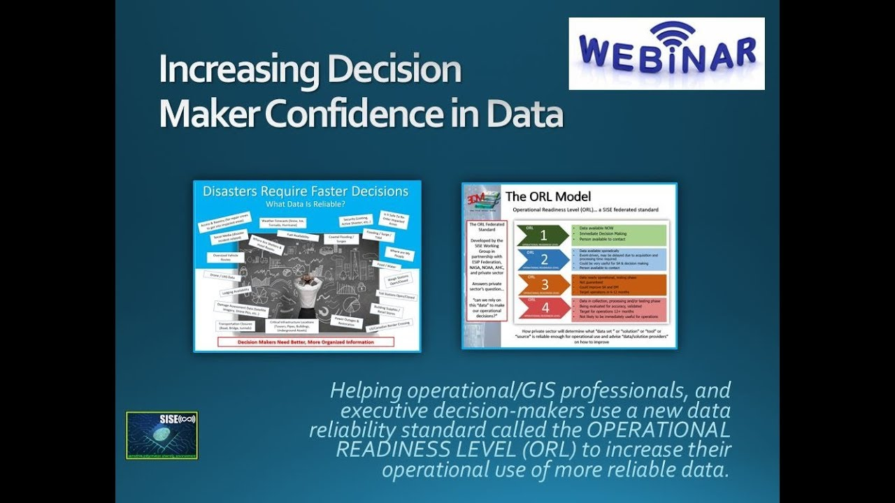 Webinar The NEW ORL Standard Increasing Decision Maker Confidence in GIS  Data Sources & Products