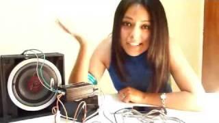Como conectar un amplificador a bocinas de coche ( How to make a speakers with car amplifier )