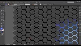 Hexagons Abstract wallpaper illustrator dersleri tutorial