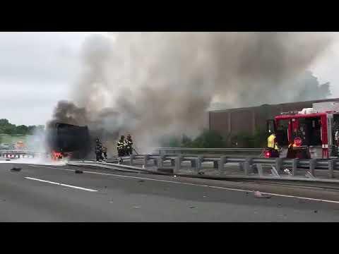 Vehicle fire creates delays on NJ Turnpike
