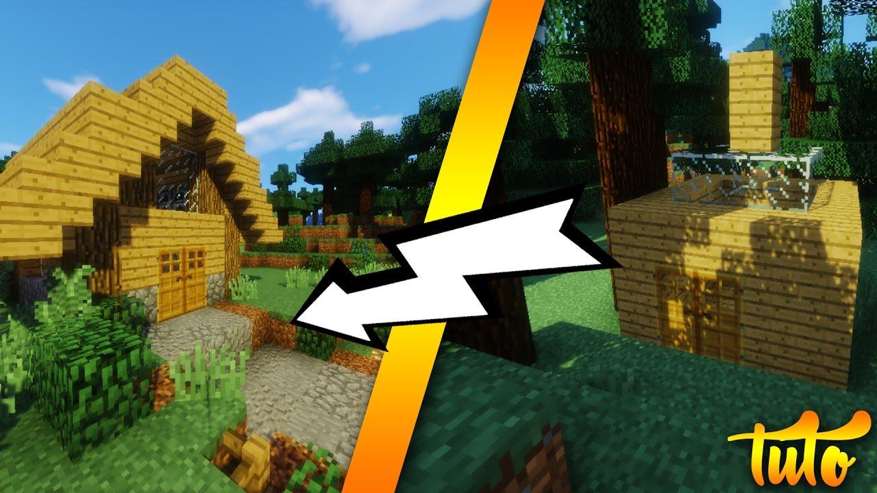 Minecraft  Comment faire une petite maison en bois