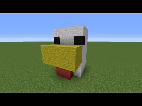 Minecraft Tutorial Chicken Head With Automatic Egg Farm