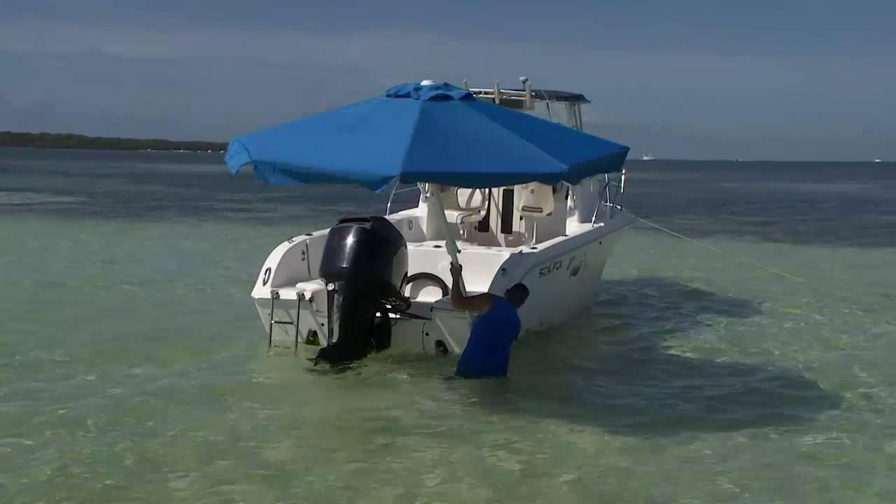 Sun Shade question   Bass Boat Umbrella