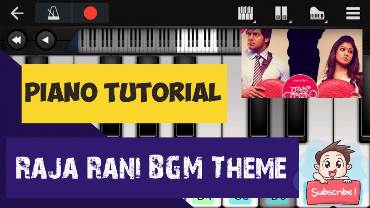 Raja Rani BGM Theme ringtone - A love for live - Piano Tutorial - Best song for piano - Bollywood