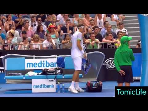 Woman Has a Medical Emergency in the Crowd During Tomic vs Istomin Match - Australian Open 2016 | HD