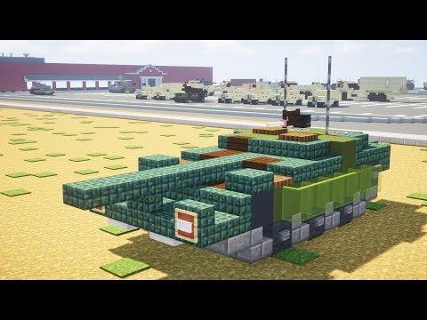 Minecraft Swedish Stridsvagn 103 S-Tank Tutorial