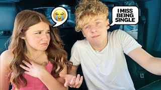 "Telling My GIRLFRIEND ""I MISS BEING SINGLE"" **She Cried** 