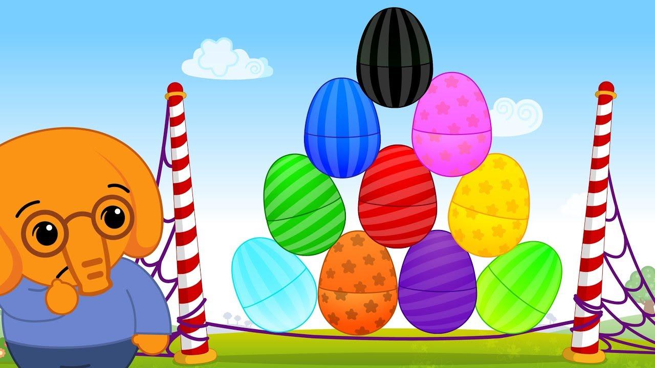 10 Huevos Sorpresa de Colores de Elefantes - Plim Plim | El Reino Infantil