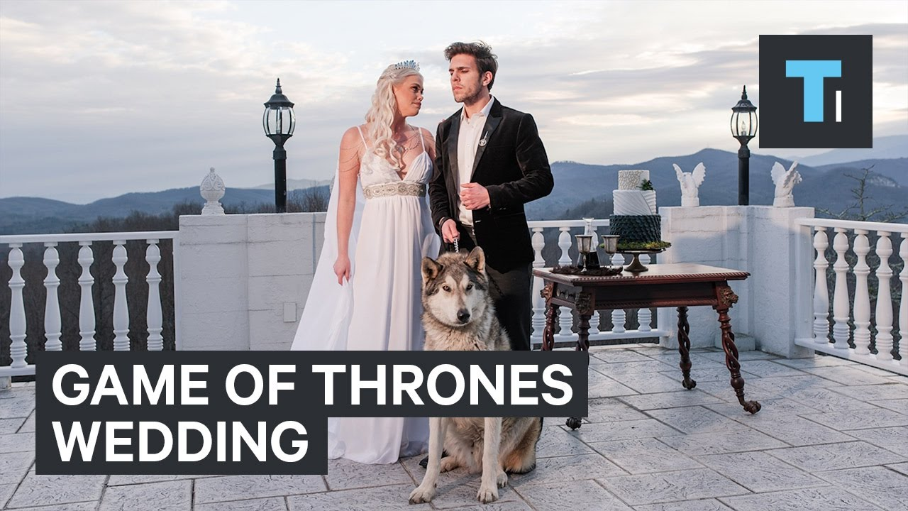 This Game Of Thrones -themed Wedding Had Its Own Direwolf