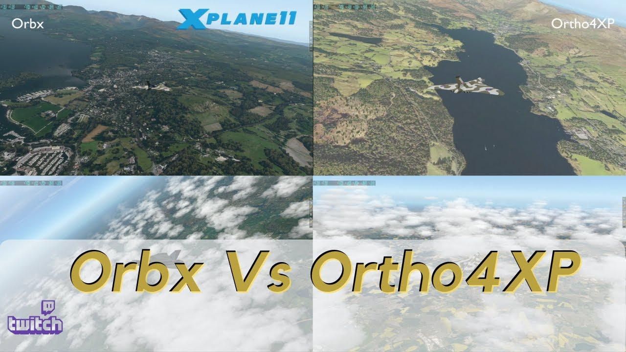 Orbx vs Ortho4XP - Central England Scenery and Performance Review XP11