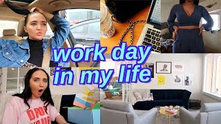 a day in my life: work edition | office updates and pr unboxing haul