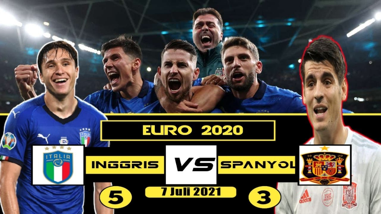 Euro 2021 : Semifinal Italia 5 - 3 Spanyol - YouTube
