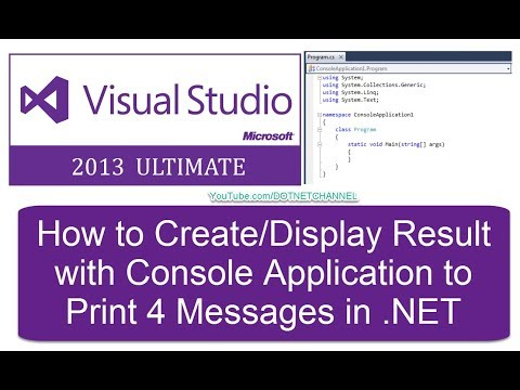 Microsoft C# .Net Introduction Tutorial for Beginners   Dot Net Channel   Part 4