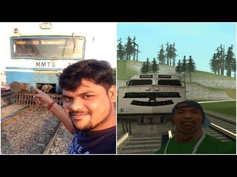 Real Life and GTA Sa - Train Accident