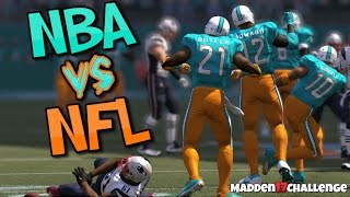 CAN A FULL TEAM OF NBA PLAYERS BEAT THE SUPERBOWL WINNING PATRIOTS? Hilarious Madden 17 Challenge!