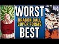 Worst To Best: Dragon Ball Super Transformations