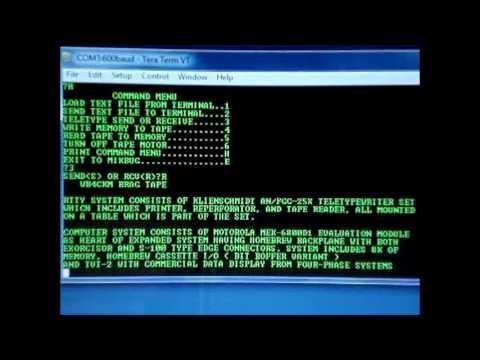 Kleinschmidt AN/FGC-25 Paper Tape Reader Input to Windows 7 PC