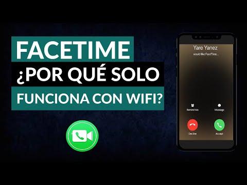 Por qué Facetime solo Funciona con WiFi