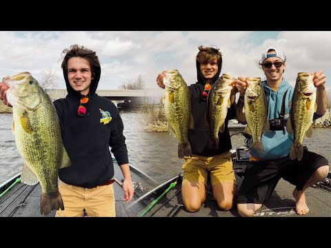 Craziest Hour Of BASS Fishing -- Pre Tournament (5 POUNDER CAUGHT)