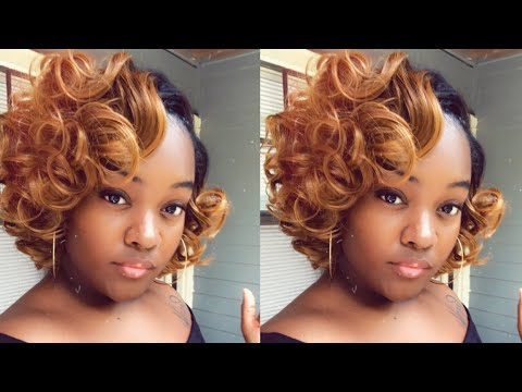 gluless-quick-weave-|-quick-weave-|-purple-pack-|-curly-bob-|-how-to-|-honey-blonde-hair