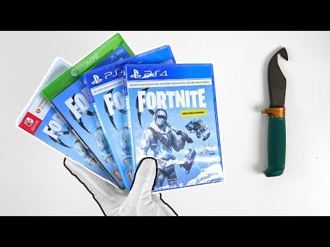 "Fortnite ""Deep Freeze Bundle"" Unboxing (PS4, Xbox One, Switch) Battle Royale Skins"