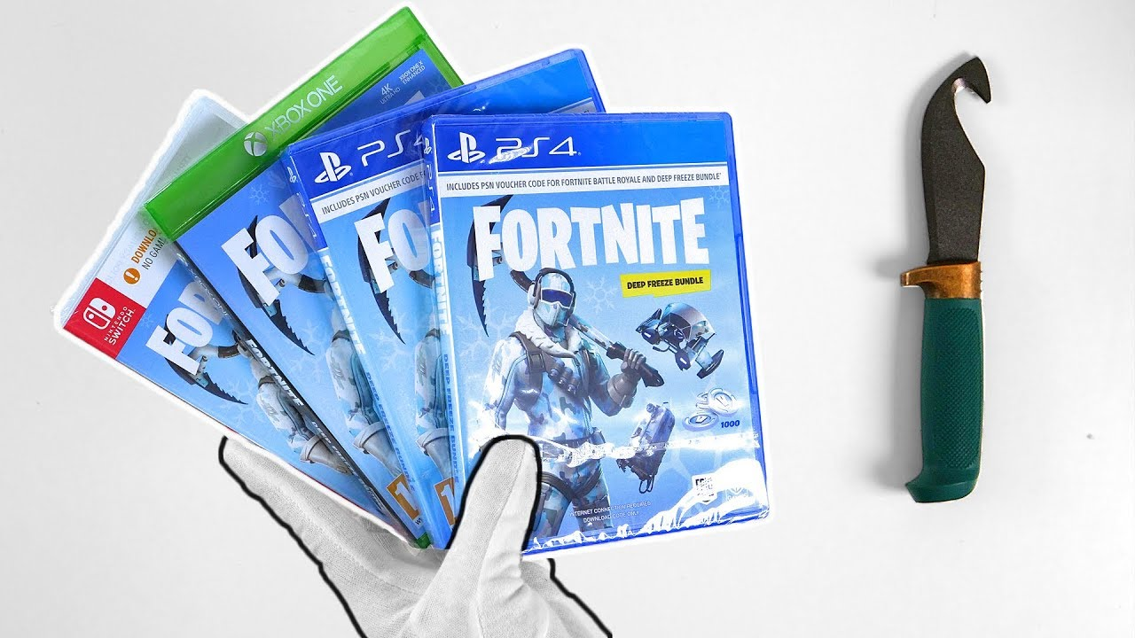 Fortnite Deep Freeze Bundle Unboxing Ps4 Xbox One Switch