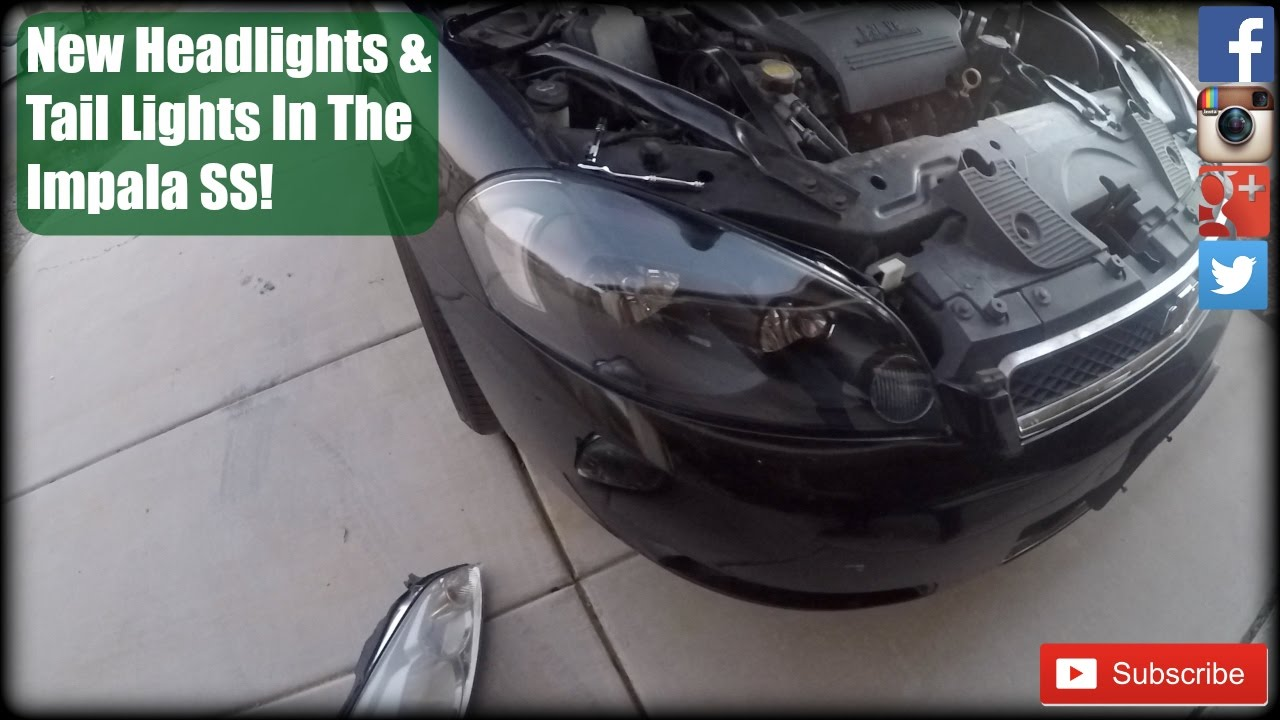 hight resolution of installing headlights tail lights in the impala ss project impala ss part 2