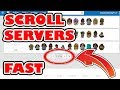 How To Scroll Through Server Pages Fast in Roblox with Google Chrome Add On Roblox+