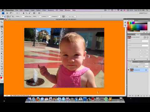 how to put an image behind another in photoshop cs6