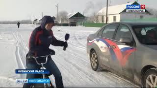Изобретатель из Купинского района сделал своими руками настоящий снегоход