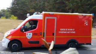 VLOD + VSAV des Sapeurs Pompiers du SDIS 17 en urgence