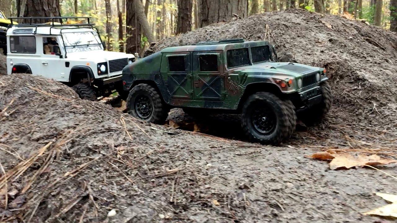 RC Hummer Land Rover Defender & Toyota Trail Finder Take The