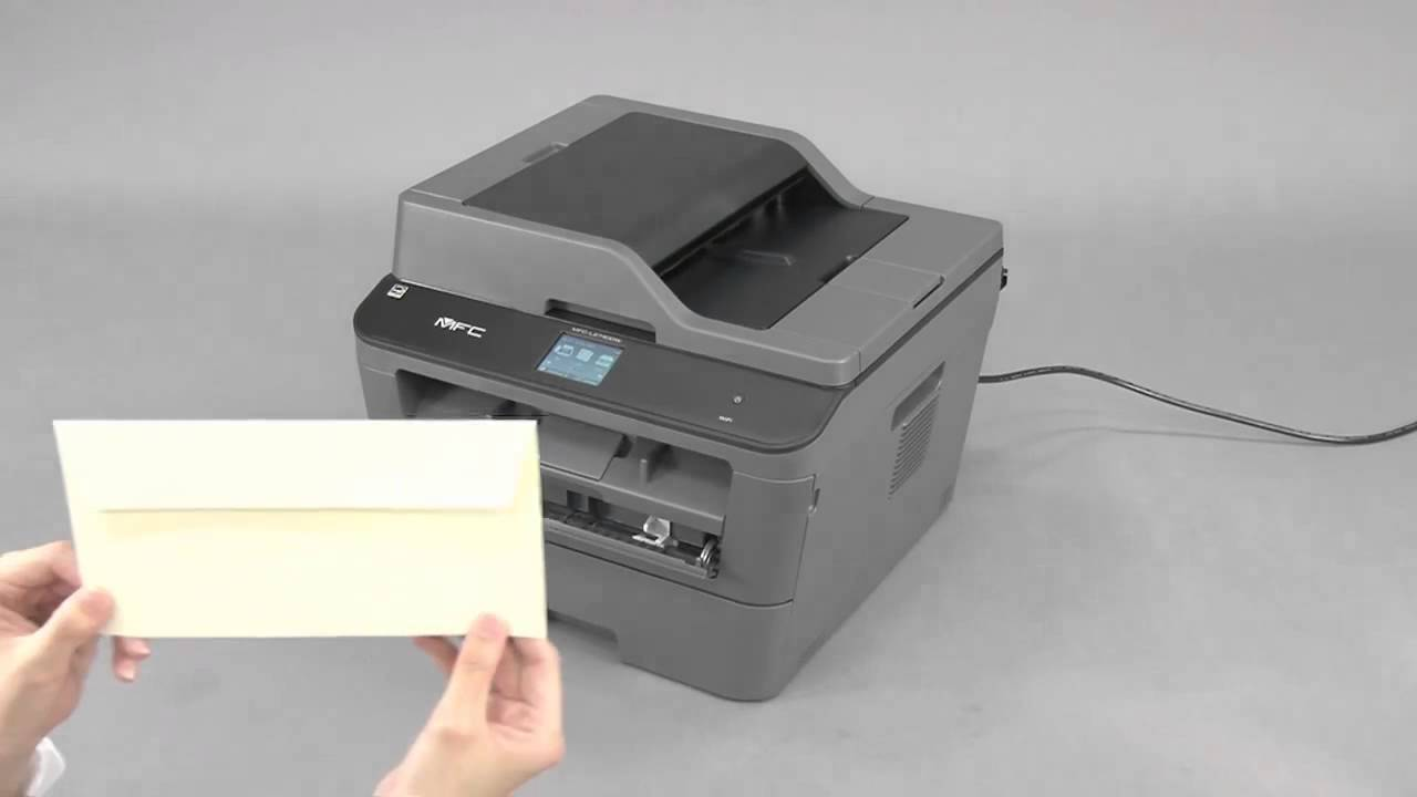 load an envelope in the manual feed slot brother mfcl2740dw rh youtube com Brother Multifunction Printers Software brother mfc-7220 laser multifunction printer manual
