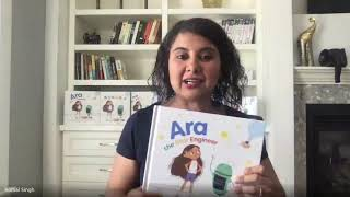 Story Time: Ara the Star Engineer, featuring the author and other characters