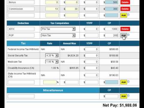 Free E-Smart Paycheck Calculator