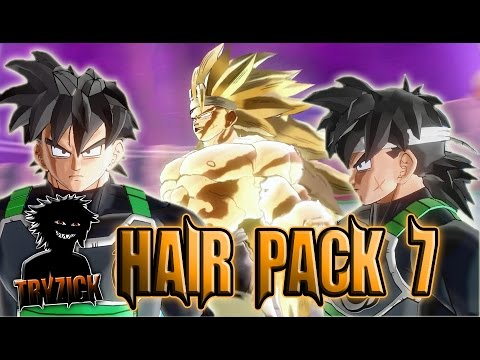 Dragonball Xenoverse 2 Hair Pack 7 Pc Mod Tryzick Youtube