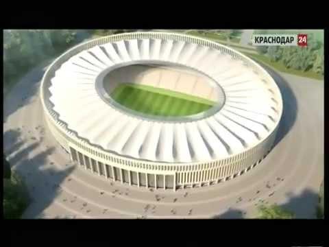 На стадионе футбольного краснодара начали монтировать крышу