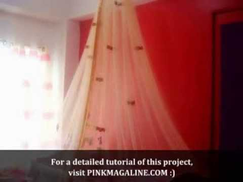 Diy Project How To Make A Canopy Mosquito Net Youtube