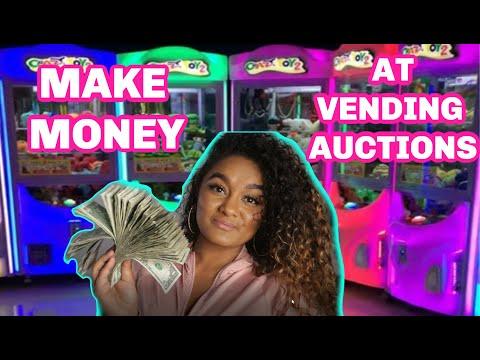 MAKE MONEY SELLING VENDING MACHINES: VENDING MACHINE BUSINESS AUCTIONS
