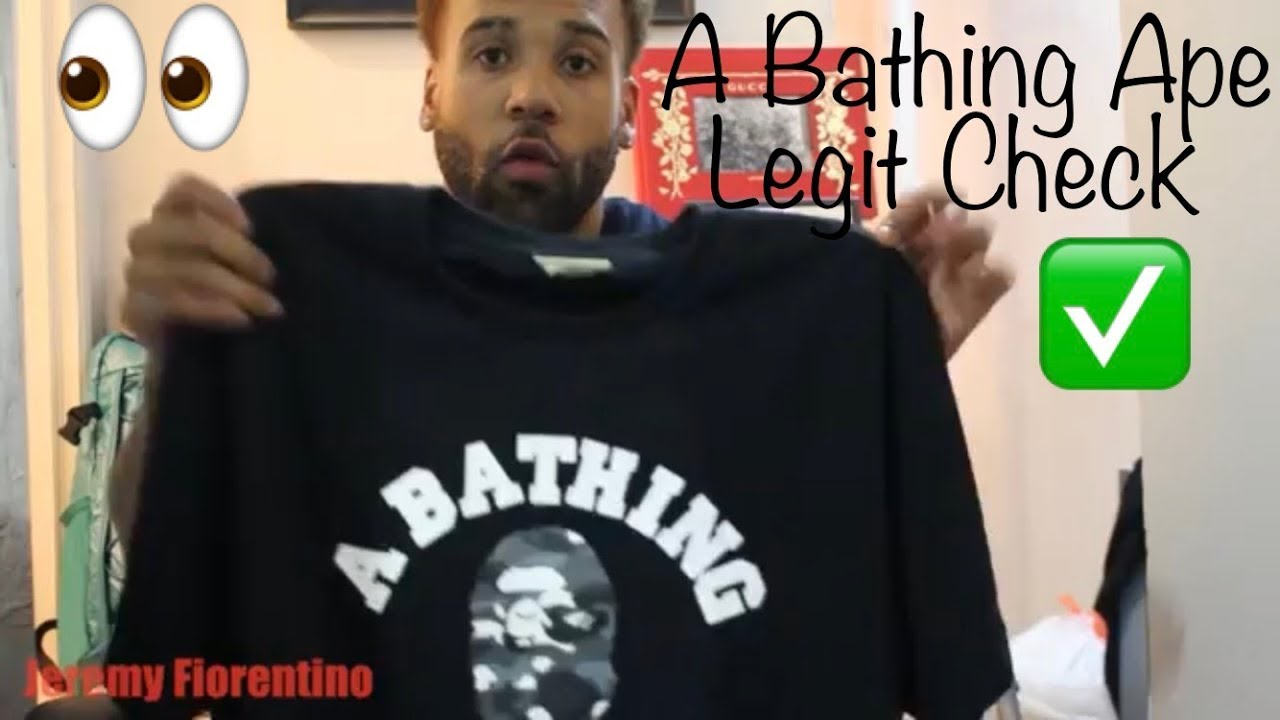4fcbb27e A Bathing Ape Bape T-shirt Fake or Real Check & Review - YouTube