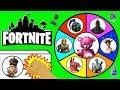 FORTNITE SPINNING WHEEL SLIME GAME w/ Fortnite Figures, Fortnite Toys, Funko + Surprises