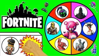 FORTNITE SPINNING WHEEL SLIME GAME w/ Fortnite Figures, Fortnite Toys, Funko + Surprises
