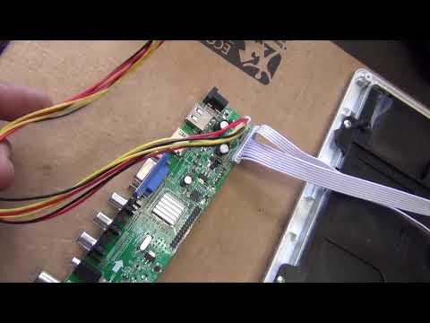 Как встроить универсальный скалера Lua3663a82 в ЖК телевизор.