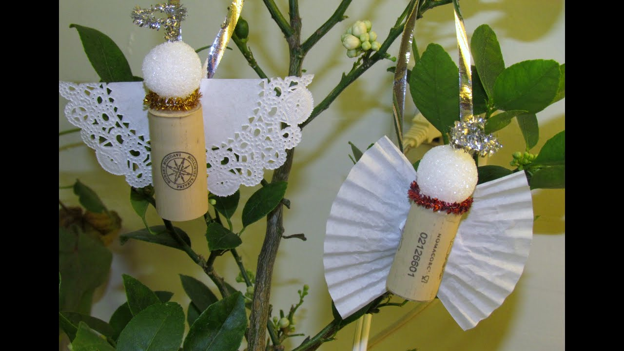 How To Make Cork Angel Ornament DIY Ornament Craft #8   YouTube
