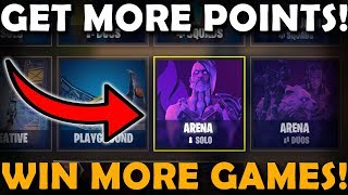 How To Win ARENA Games More Frequently On Fortnite! (Ranked Mode) | GET MORE POINTS