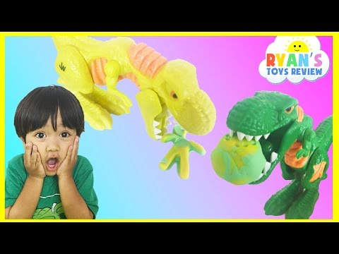 Thumbnail: PLAY DOH JURASSIC WORLD WRECK 'N ROAR DINOSAUR GAME for Kids Egg Surprise Toys Marvel SuperHero