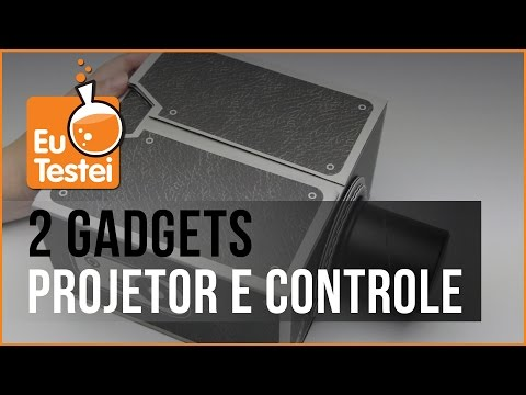 Projetor para smartphones e Controle Remoto WiFi - Vídeo Gadget EuTestei Brasil