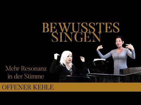 """MIT OFFENER KEHLE SINGEN: Mehr Resonanz in der Stimme – aus der Reihe """"BEWUSSTES SINGEN"""